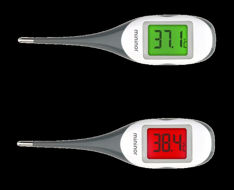 Digitalt termometer farve