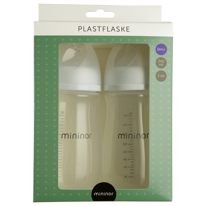 plastflaske 240ml 2-pak mininor